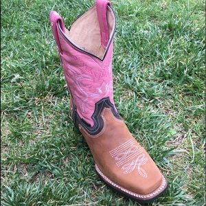 Women's Cowgirl Boots Brown & Pink